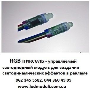 Управляемый светодиодный модуль RGB Pixel с возможностью задавать светодинамические эффекты в подсветке