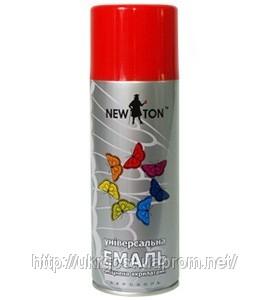 Усиленная акрилатами алкидная эмаль —аэрозоль NEW TON. используется как для внутренних, так и для наружных работ.