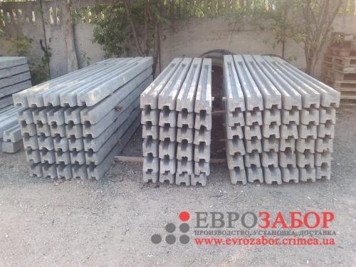 Усиленные столбы для еврозабора 150х160 мм. Длина изготавливается под заказ.