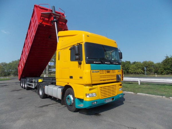 Услуги самосвала полуприцеп 30 тонн, Экскаватора JCB, крана 10 тонн