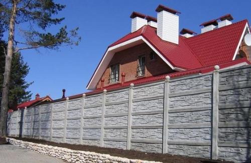 установка бетонных заборов киев
