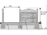 Фото 1 Установка бетонных заборов, производство еврозаборов Кривой рог 332652