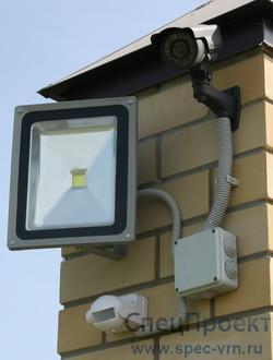 установка и подключение прожектора