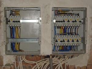 установка и разключение распред коробок: кирпич/бетон