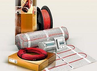 установка системы электрообогрева с укладкой термоэлементов и устройством теплоизоляции