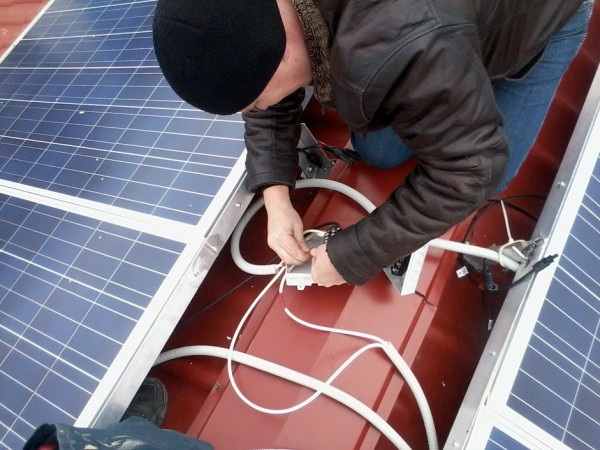 Установка солнечных фотоэлектрических модулей