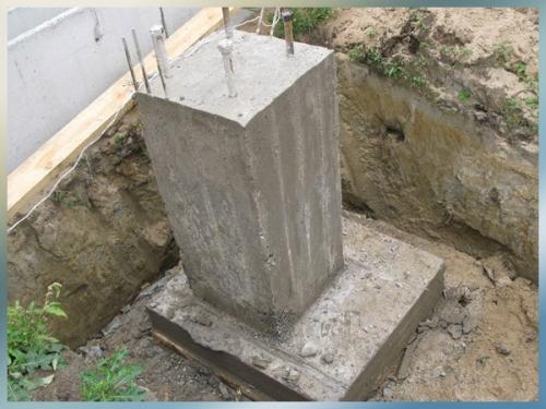 Устройство фундаментов-столбов
