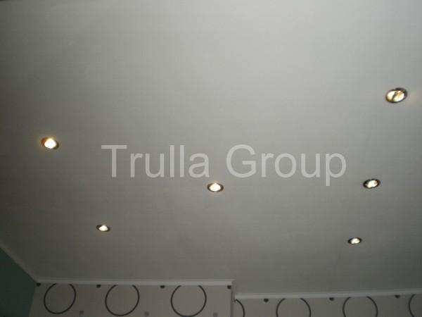 Устройство гипсокартонного потолка (1 уровень) без отделки