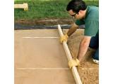 Устройство песчаного основания толщиной 50 мм, 100 мм от