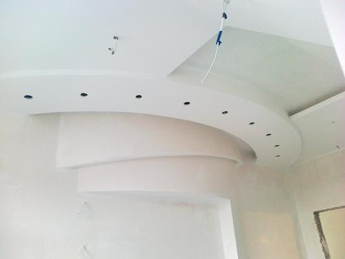 Устройство: подвесного потолка из ГКЛ -70грн/м2;разноуровн его потолка из ГКЛ сложных геометр. форм от 100грн/м2