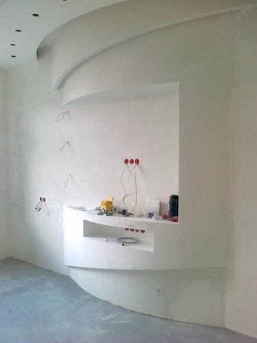 Устройство: радиусных ГКЛ стен -80грн/м2; радиусных перегородок -115грн/м2; Монтаж откосов 50грн/мп
