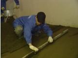 Устройство цементно-песчаной стяжки маячной (толщ.45 мм)