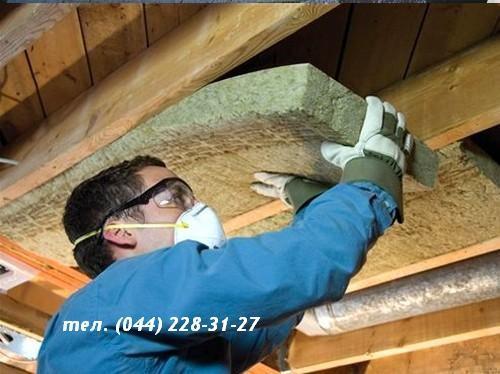 Устройство теплозвукоизоляции стен и потолков (миниральная вата)