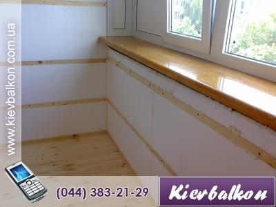 Утеплення балкона пінопластом (у вартість входить матеріал і.
