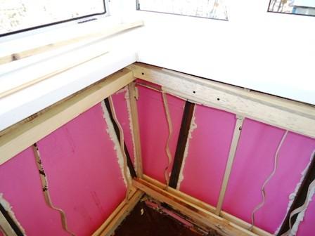 Утепление балкона внутри пенополистиролом