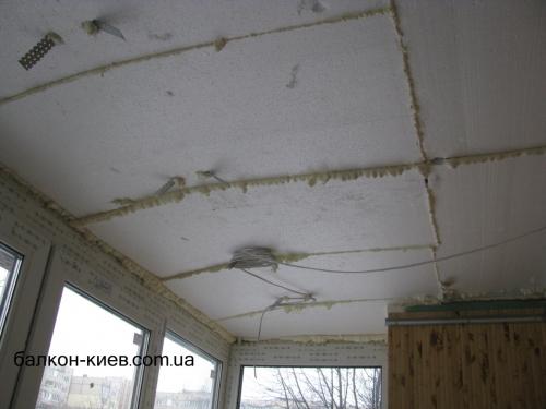 Утепление балконов пенопластом внутри. Один слой. Только работа.