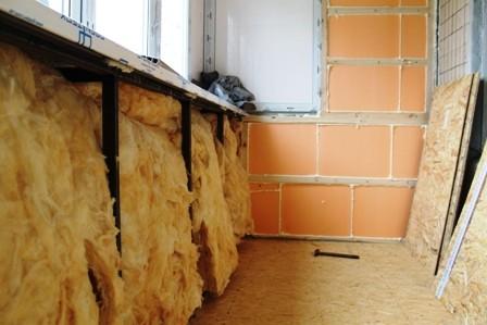 Утепление лоджии в панельном доме