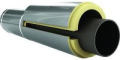Утепление трубопровода. Сегмента из пенополиуретана. Диаметр трубы 179 мм. Толщина 40мм. Фольгированная.