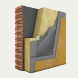 Утеплитель фасадный ТЕХНОФАС 145 кг/м3, 100 мм, утепление штукатурных фасадов