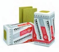 Утеплитель Технофас Размер плиты-1200*600мм Толщина-50, 100мм Плотность-135-145 кг. /м3