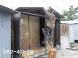 Увеличение динны гаража металлического. Только работа.