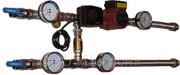 Узел смесительный для управления нагревом и охлаждением в в системах вентиляции