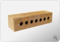 Узкий колотый тычковой с фаской пустотелый кирпич