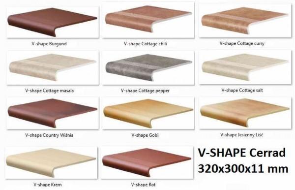 ступени V-SHAPE 300х320/50х11мм