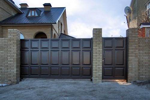 Въездные ворота откатные, распашные, сдвижные автоматические ворота