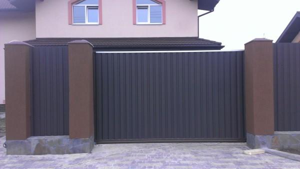 Въездные ворота, размер 4000*2000