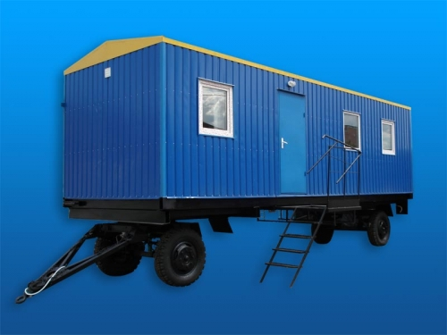 Вагон–дом для отдыха на одну семью 3х6, 2а спальных места, душевая каб., шкаф, стол, холодильник, телевизор
