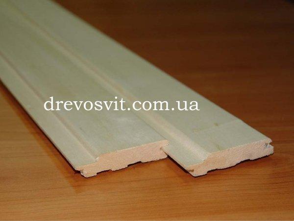 Фото  1 Вагонка деревяна липа для лазні, сауни, інтерєрів будинків. Європрофіль. Цілісна. Ціна виробника. 1866994