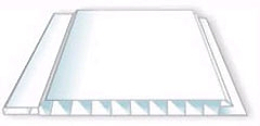 Вагонка пластиковая 10 х 100 х 6000, белая, матов.