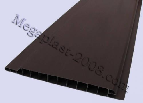 Вагонка пластиковая Вагонка Голубая, Салатовая, Бежевая, Темно-коричневая, Размер панели: 100х6000х10мм