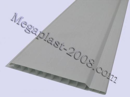 Вагонка пластиковая Вагонка Снежно-белая (стандарт) Размер панели: 100х6000х10мм