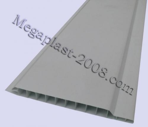 Вагонка пластиковая Вагонка Снежно-белая (усиленная) Размер панели: 100х6000х10мм
