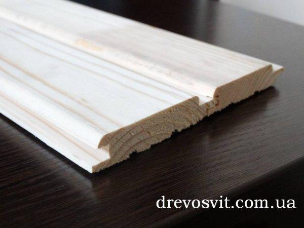 Фото  1 Вагонка деревяна сосна європрофіль 1-го сорту з живим не випадним сучком.Розміри: 80х14 мм. Довжина 4,0м 1972855