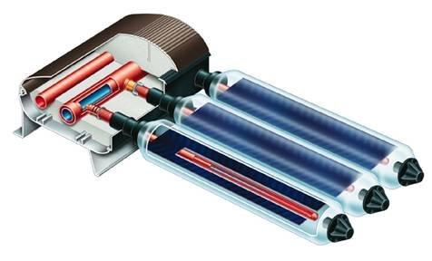 Вакуумные трубчатые коллекторы с тепловыми трубками (HEAT PIPE