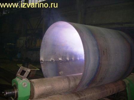 Вальцовка металла. Изготовление труб, обечаек. Прокатка дуг, арок.