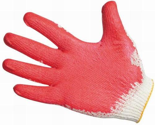 VAMP, перчатка трикотажная, размер 10, покрытая на ладони латексом, красный, синий, зеленый цвета
