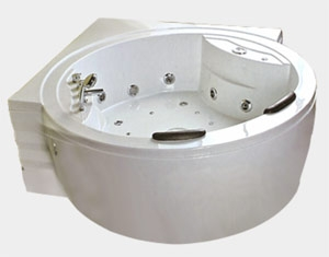 Ванна гидромассажная Iris TLP-639 (180х180х67 см), аэромассаж Размер: 180x180x67 см Двухместная