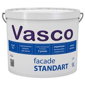 Краска фасадная акриловая Фасад Стандарт Васко база А (Vasco)