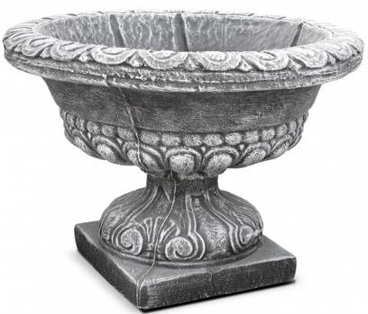 ваза бетонная, цветник, цветочница. Цвет: серый и крашеный.