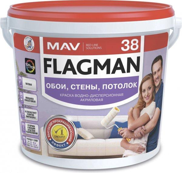 Фото 1 Фарба для стель, стін Flagman 38 (ВД-АК-2038). 328985