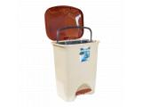 Фото  1 Ведро для мусора с педалью Irak Plastik Stella 45л бежевое 2015321