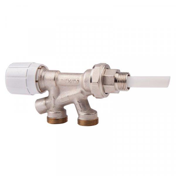Фото  1 вентель двухтруб. 2-х угловой термо с клапаном 1/2х24/1,5 Icma №892 2013492