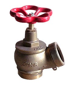 Вентиль (клапан запорный) латунный угловой Ду 50 мм