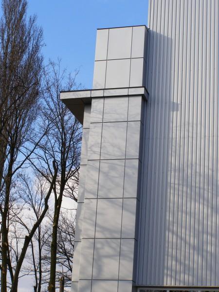 Вентилируемый фасад из профнастила стенового