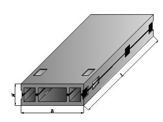 Вентиляционные блоки пустотелые ВБ 30