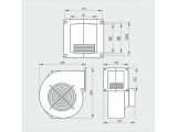 Фото  2 Вентилятор для твердотопливного котла. Вентилятор М+М WPA 260 MplusM 2745473